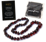 Baltic Amber Necklace for Adults - 45cm - Honey Colour - Hand-made / Certified Baltic Amber Beads - Knotted - Screw Clasp