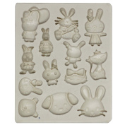 Funshowcase Cute Bunny Kitty Puppy Bear Candy Silicone Mould for Sugarcraft, Cake Decoration, Cupcake Topper, Chocolate, Fondant, Jewellery, Polymer Clay, Soap Making, Crafting Projects