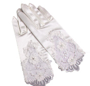 1 Pair Short Elegant Satin Wedding Gloves
