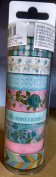 Washi Tape - Pink and Blue Soft Floral Prints - 8 Spools