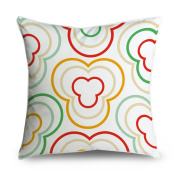 FabricMCC Girly Moroccan Quatrefoil Pattern Pastel Colour Square Accent Decorative Throw Pillow Case Cushion Cover 18x18