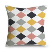 FabricMCC Classic Harlequin Diamond Pattern Square Accent Decorative Throw Pillow Case Cushion Cover 18x18