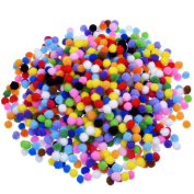 BoNaYuanDa Pompoms for Craft Making and Hobby Supplies 1cm , 1000 Pieces, Assorted Colours