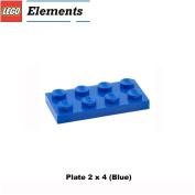 Lego Parts: Plate 2 x 4 (Blue)