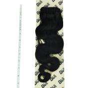 GEX 20cm - 80cm 8A 100g/Bundle Unprocessed Brazilian Virgin Remy Hair Weft Hair Extension Body Wave Natural Black 46cm