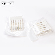 Neitsi White Colour Plastic Salon Croc Clips Hair Styling Hair Clamps