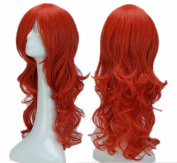 60cm Orange Curly Cosplay Wigs Full Head Hair Wig Grade 7A Heat Resistant Hair Fall for Halloween Costume Party UPS Post
