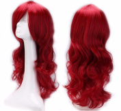 60cm Wine Red Curly Cosplay Wigs Full Head Hair Wig Grade 7A Heat Resistant Hair Fall for Halloween Costume Party UPS Post