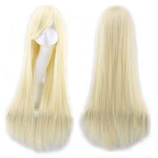 Simpleyourstyle Wigs 80cm/31.5inch Cosplay Wigs For Women Straight Lt Gold Full Wigs