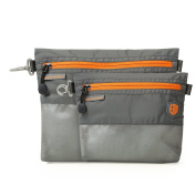 BAGSAMRT lightweight Packing Organisers for Travel and Storage Small/Large - 2pc Set, Grey and Orange