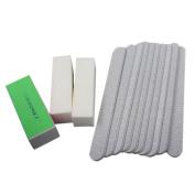Polytree 13pcs Nail Art Buffer Buffing File Sanding Sandpaper Block Set