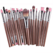 Lookatool 20pcs/set Makeup Brush Set tools Make-up Toiletry Kit Wool Make Up Brush Set