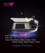 OMP Eyelash Extensions Individual Signature Mink Eyelash C Curl 0.07 Thickness (8mm-17mm length)