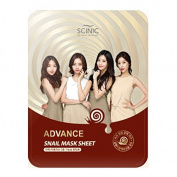 K-Beauty Scinic Advanced Snail Mucus Essence Facial Mask Pack of 10 - Korean Cosmetics