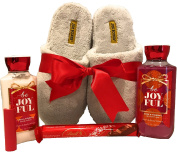 Bath & Body Works Slipper Gift Sets - Gift Baskets - Dearfoam Slippers (L), Body Cream, Shower Gel, Pocketbac, Lip Balm - Lots of Scents to Choose From