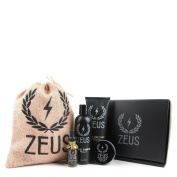 Zeus Everyday Beard Grooming Kit- Men's Daily Set for Quality Beard Maintenance (Scent