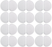 Underarm Perspiration Shield Disposable Absorbent Pads (12 Pairs, Wide) - Invisible Protection Against Armpit Sweat Stains