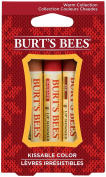 Burt's Bees Kissable Colour Holiday Gift Set, 3 Lip Shimmer In Gift Box, Warm Collection, 0kg