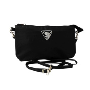 Energetix of MAGNETIX wellness jewellery bag cosmetic bag with frog logo, black bag, approx. 23.5 x 13.5 cm