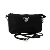 Energetix of MAGNETIX wellness jewellery bag cosmetic bag with frog logo, black bag, approx. 23.5 x 13.5 cm