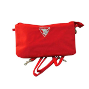 Energetix of MAGNETIX wellness jewellery bag cosmetic bag with frog logo bag red approx. 23.5 x 13.5 cm