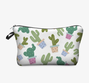 JessPad Makeup Bags Potted Plant Cactus Cosmetic Travel Cases Cosmetic Bag