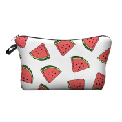 JessPad Makeup Bags Watermelon White Cosmetic Travel Cases Cosmetic Bag