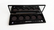 Magnetic Eye Shadow Palette with Mirror, Dou Vegan Eye Shadow Brush [five 26mm pan wells]
