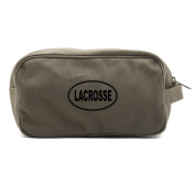 Lacrosse euro Army Canvas Dual Two Compartment Travel Toiletry Dopp Kit Bag