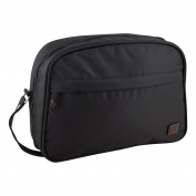 Jacki Design Men's Large Toiletry Bag with Wristlet, Black