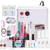 Azure Beauty Gel Nail Polish Starter Kit with 36W UV Lamp Kit WSGP19