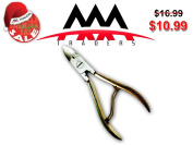 Nail Clipper/Nipper for Thick or Ingrown Toenails & Fingernails - Surgical Grade Stainless Steel - Golden Handle