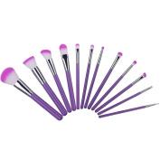 Makeup Brush Full Set, 12 pcs Professional Foundation Blending Powder Blush Eyeshadow Concealer Makeup Cosmetic Brush Kit with Bag