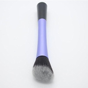 5 Types Daily Applications Contour Makeup Single Powder Blush Brush Cosmetic Tool Purple Round-Angled