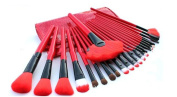 GAMT 24 Professional Makeup Brush Sets Cosmetic Tools Red