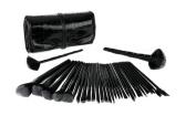 GAMT 32 Ultra-light Section Professional Black Makeup Brush Set Combination Black
