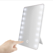 Touch 16 LED Light Illuminated Makeup Standing Mirror Adjustable Cosmetic Tool H88