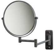 Jerdon 8 Makeup Vanity Mirror, Oil-Rubbed Bronze, Dual Arm, Wall Mount, 7X Optics by Jerdon