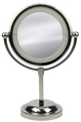 Revimport Make Up Mirror with 9 LEDs Round on a Base