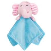 OLizee Newborn Baby Breathable Security Anxiety Blankets Ultra Soft Plush Snuggle Animal Blanket