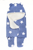 Ultra Soft Blue Swaddle Blanket Extra Thick for Comfort Keep Baby Cosy & Warm