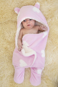 Gorgeous Pink Swaddle Wrap Ultra Fluffy for Comfort Keep Baby Snug & Protected