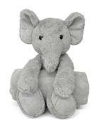 Little Starter Baby Elephant Plush and Blanket Set, Grey