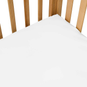 100% Cotton, Exceptionally Soft, Solid Crib Sheets in White