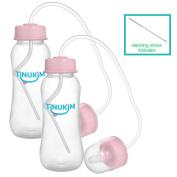 Tinukim Hands Free Baby Bottle – Anti-Colic Nursing System, 270ml