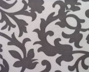 Portable Baby Changing Pad / Nappies Station | Fleur De Lis Grey Pattern