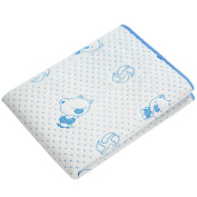OLizee 2 Pack 50cm X 70cm Cotton Breathable Absorbent Urine Mat Waterproof Changing Pad For Baby Washable Mattress Pad Sheet Protector, Blue