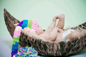 AiXiAng Newborn Baby Photo Props Basket Infant Photography Prop Moon Style Handmade Woven Basket