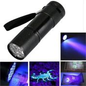 Mini Aluminium Uv 9 Led Flashlight,Tuscom@ Torch Light Lamp