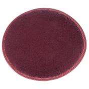 DODOING Wine Red Rug for Stairway/Toilet/Study Room/Bedroom/Living Room/Bathroom/Kitchen,Diameter 40cm/15.7inch